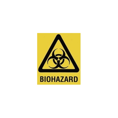 "Yellow 8"" x 11"" Bag Prntd. Biological Hazard Cat 36/242"