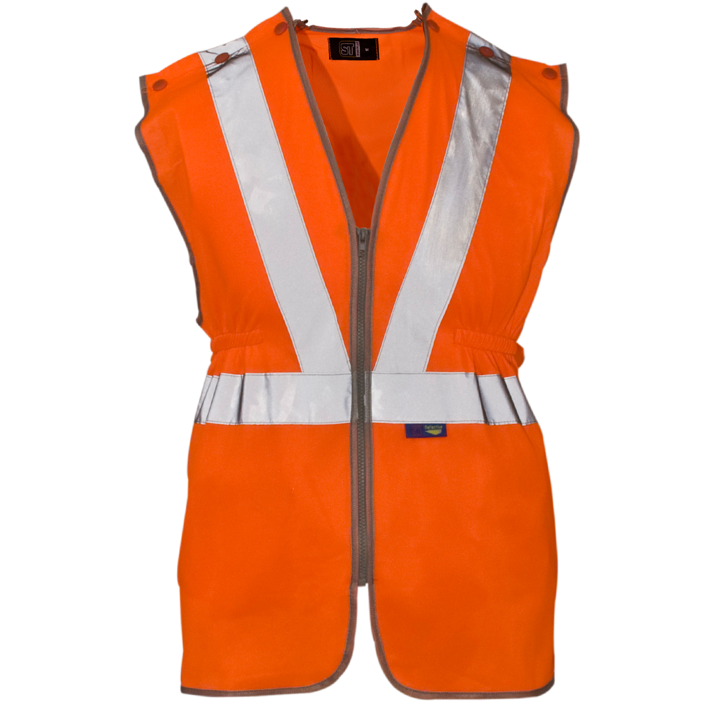 Orange Hivis Waistcoat HV2V
