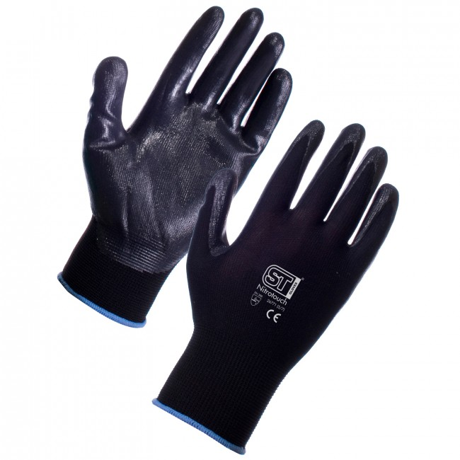 Black Nitrotouch Gloves - Palm Dipped