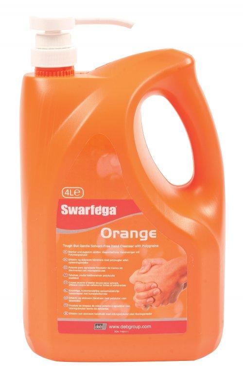 Swarfega Orange Solvent Free Hand Cleansing Cream 4 Lt Pump
