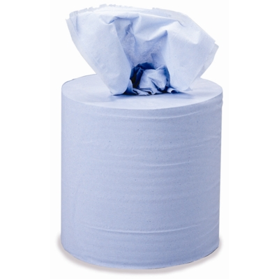 "8"" Blue Centre Feed Towel 3 Ply Cat: 36/137721"