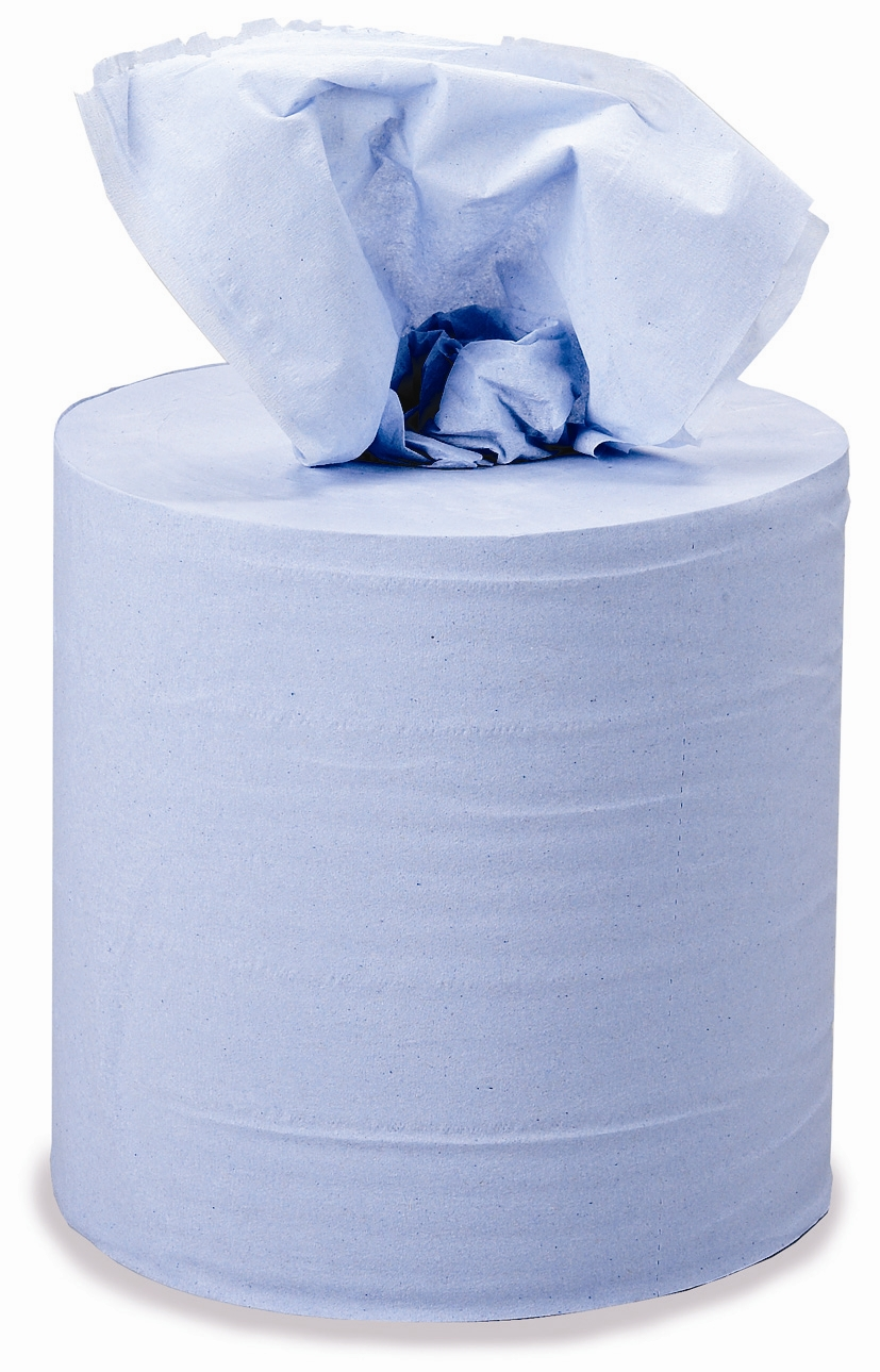 "8"" Blue Centre Feed Towel Roll 3 Ply Cat: 36/137721"