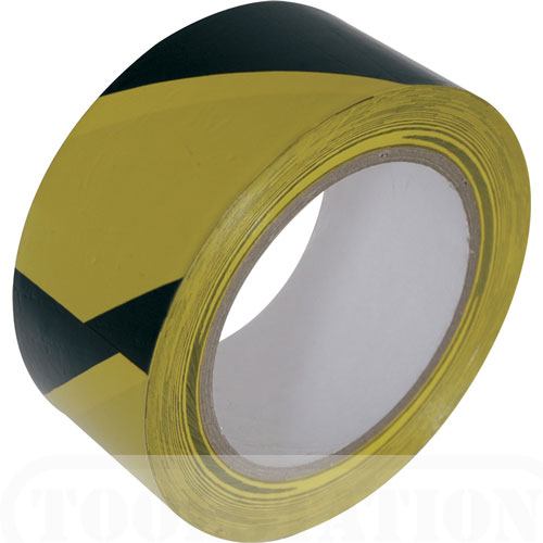 Black/Yellow  50mm x 33mt. Hazard PVC Tape  56/118003