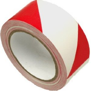 Red/White Hazard 50mm x 33m PVC Tape - 56/118004