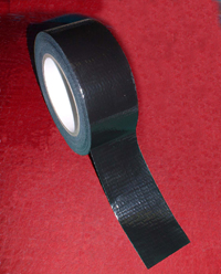 25mm x 50m Black PE Coated Cloth Tape