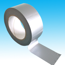 75mm x 50m Silver PE Coated Cloth Tape
