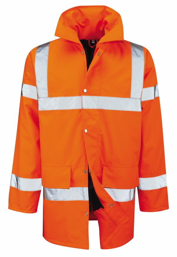 Orange Waterproof Hivis Jacket
