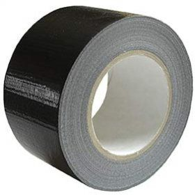 75mm x 50m Black PE Coated Cloth Tape