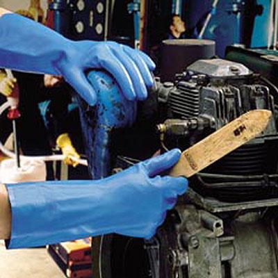 Blue Marigold Nitrile Gloves