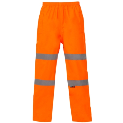 Orange Waterproof Hivis Trousers.
