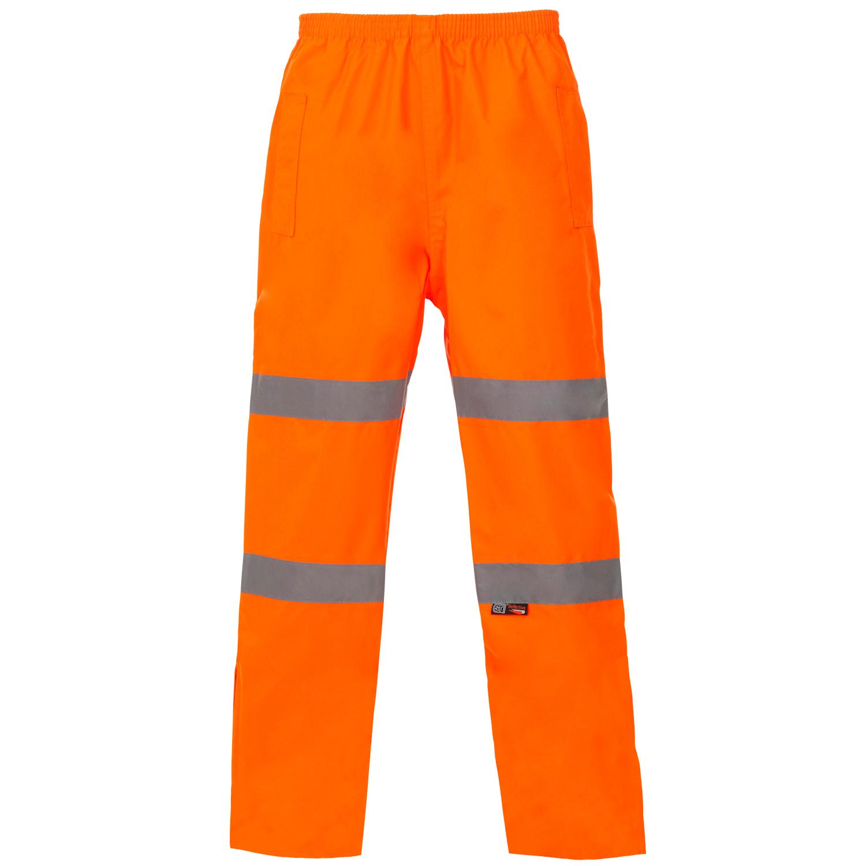 Orange Waterproof Hivis Trousers.