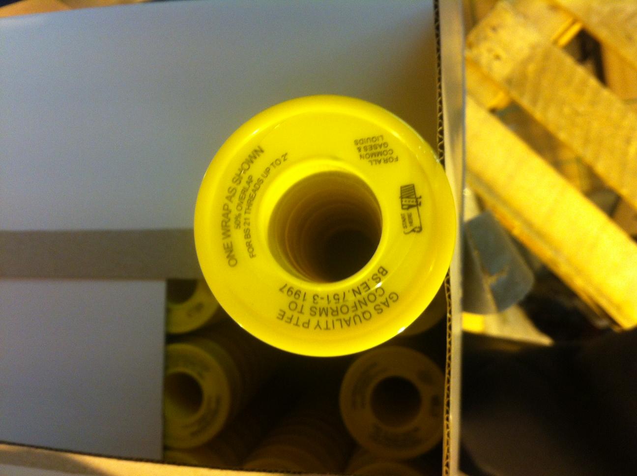 12mm x 5m Gas P.T.F.E Tape BS 6974