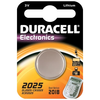 Battery CR2025 3 Volt - Coin 1111/1723 Duracell-Pack of 2's