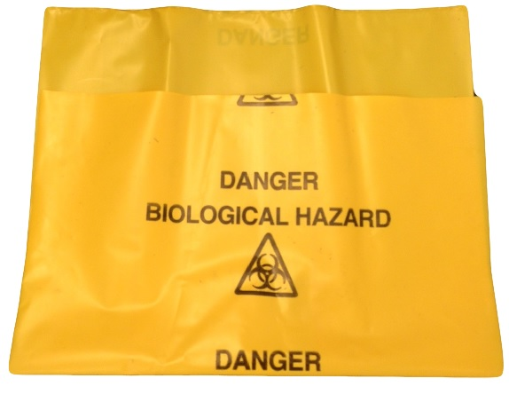 Yellow Bags Danger Biological Hazard Cat: 036/100107