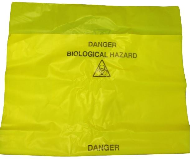 Yellow Bio Hazard 34/150060 Bags Prntd: Bio Hazard+Logo