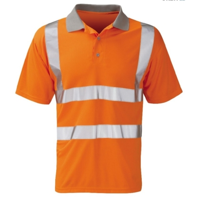 Polo Shirt Orange Hi Viz