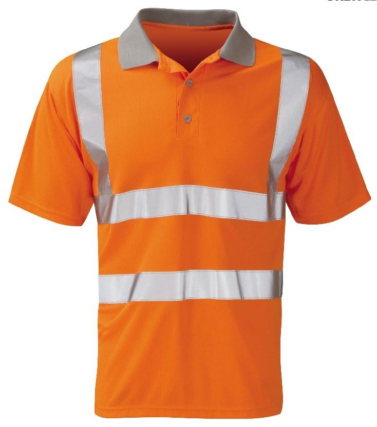 Polo Shirt Orange Hi Viz