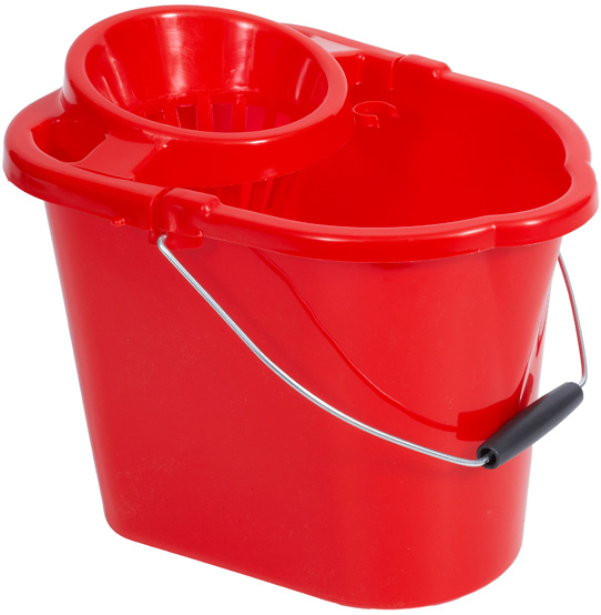 12 Litre Red Bucket With Wringer