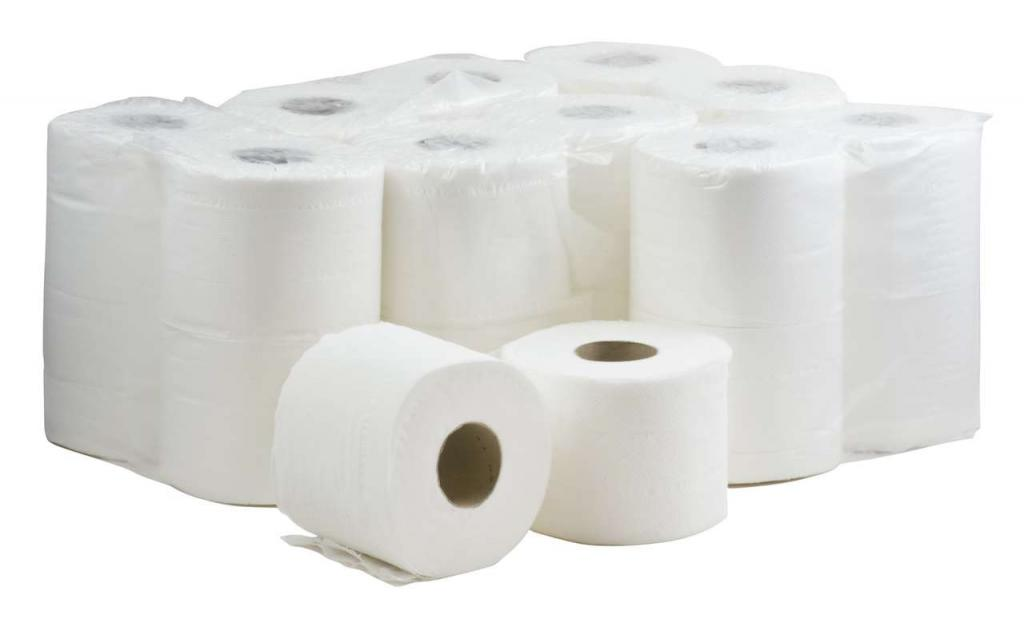 White -  2 Ply 4-Roll Pack Toilet Roll 320S   (9 x 4)
