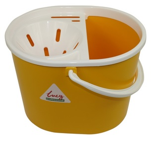 Bucket Yellow Lucy Do-It-All With Wringer 15 Litre