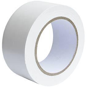 75mm x 33m White Lane Mark PVC Tape  56/148510