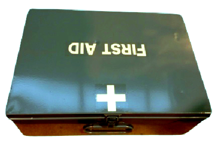 Metal First Aid Box With Kit & Labels 34/1767**