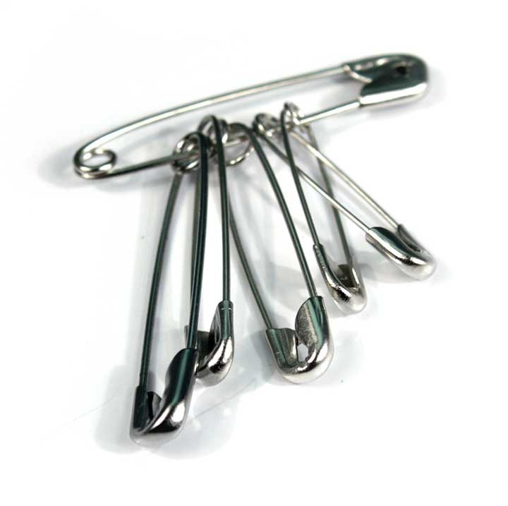 Safety Pins Assorted (6) Cat: 34/0090000