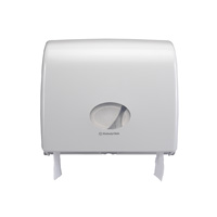 "Maxi Jumbo Plastic Dispenser 14"" White"