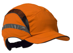 Baseball Style Bump Cap Hi Vis Orange 3M EN812 Cat: 44/150055