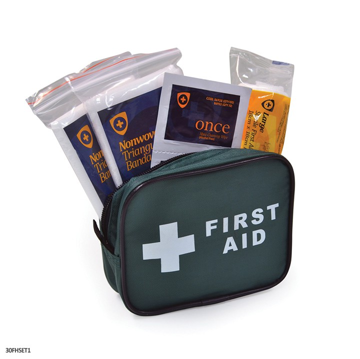 1 Person First Aid Kit In Nylon Pouch For Guards Use