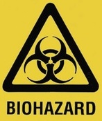 "Yellow 8"" x 11"" Bag Printed Biological Hazard 036/000242"