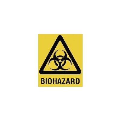 Bio Hazard Bag Yellow 14 x15 With Adhesive Strip 36/981