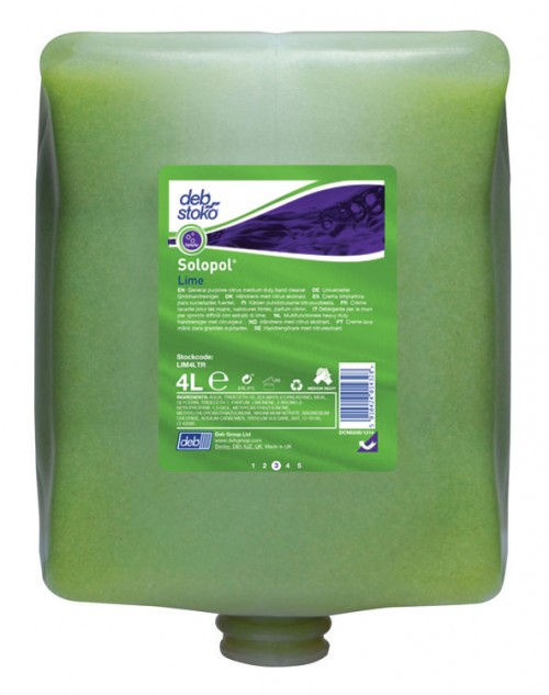 Deb Solopol Lime Heavy Duty Hand Cleanser 4 Litre