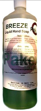 Breeze, Green Liquid Soap 12 x 1 Ltr. Per Box 7/56231