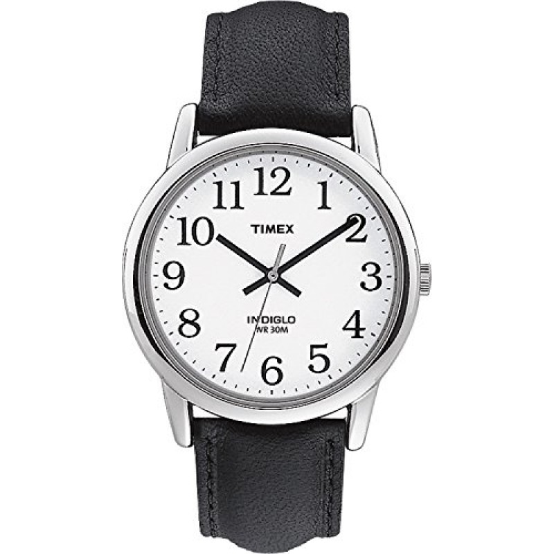 Timex Indiglo Watch + Leather Strap