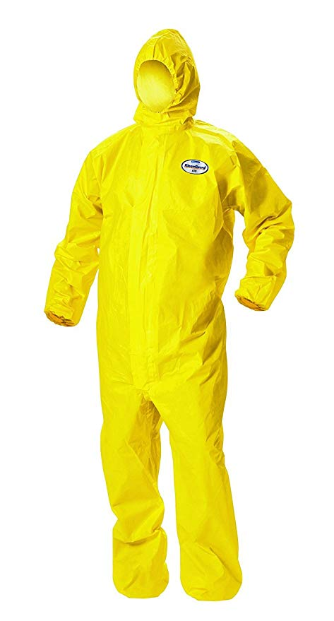 Kleenguard A71 Coverall Yellow Hooded -  'M' 44/150486