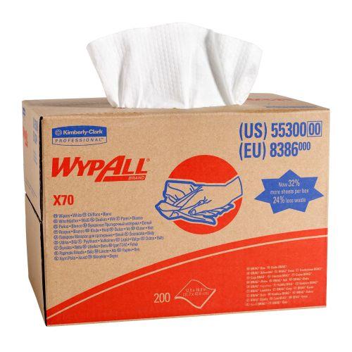 8386 Wypall X70 Brag Box White 200 sheets