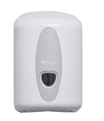 Dispenser - White (Plastic) For Centre Feed Roll